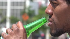 Man, Male, Smoking, Beer, Alcohol - stock footage