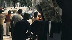 Rio de Janeiro 1977: shoeshine working in the street Stock Footage
