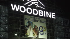 Woodbine Racetrack and Casino, Queens's Plate Stock Footage