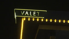 Valet Sign at Woodbine Racetrack and Casino Stock Footage