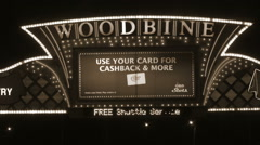 Woodbine Racetrack and Casino Sign Stock Footage