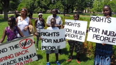 Sudanese Human Rights Protest  Stock Footage