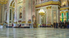 Saint Isaac's Cathedral interior zoom out timelapse 4K in St Petersburg, Russia Stock Footage