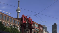Chinatown in Downtown Toronto Stock Footage