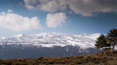 4k sierra nevada spain granada mountains snow peaks ski timelapse Stock Footage
