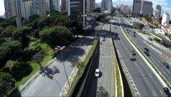 23 May (23 de Maio) Avenue in Sao Paulo, Brazil Stock Footage