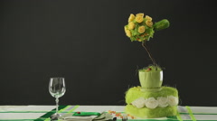 Creative Dinner Composition Stock Footage