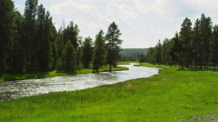 At the Yellowstone National park Stock Footage