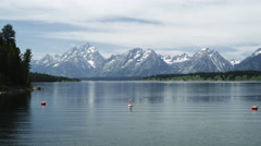 Jackson Lake View Stock Footage