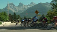Cycle Racing, Canmore, Alberta 4 - stock footage