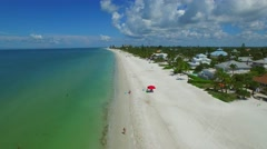 Aerial fort Myers Beach FL 4k 3 Stock Footage