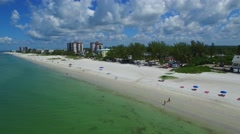 Aerial fort Myers Beach FL 4k 5 Stock Footage