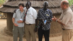 Stock Video Footage of Shaking Hand of a Local Chief in JUBA, SOUTH SUDAN