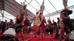 Borneo traditional dance Stock Footage