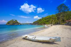 Tropical coastline of Nusa Penida island. - stock photo