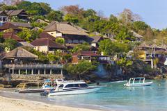 Stock Photo of Tropical coastline of Nusa Penida island.