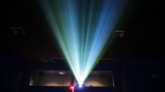 Projector lights stage event theatre - stock footage