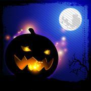 Pumpkin lighting Stock Illustration