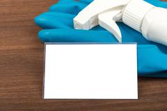 Airbrush with rubber gloves - stock photo