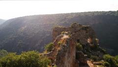 Montfort (Shtarkenberg) is a ruined crusader castle . Israel. Stock Footage