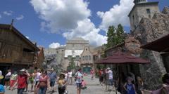 The Norwegian Pavilion in Walt Disney World Resort, Orlando Stock Footage