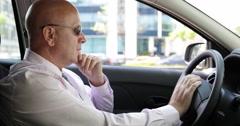 Security Agent Secret Surveillance Man Spy Car Mission Watch Job Target Persons Stock Footage