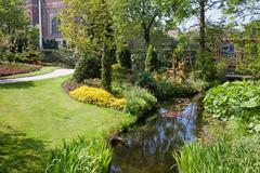 Garden of the Peace Palace in Den Haag - stock photo