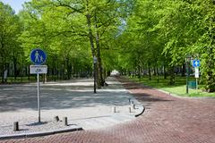 Lange Voorhout in Den Haag - stock photo