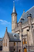 Ridderzaal of the Binnenhof in Den Haag - stock photo