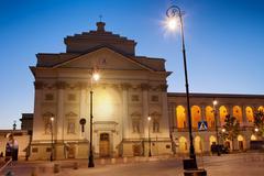 St Anne Church at Dawn in Warsaw Stock Photos
