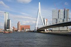 City of Rotterdam Downtown Skyline in Netherlands - stock photo