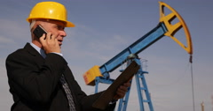 Technical Manager Check Extracting Product Parameters Phone Calling Maintenance Stock Footage