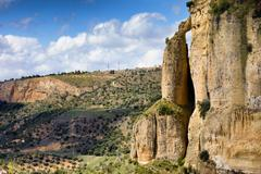 Andalucia Landscape in Southern Spain - stock photo