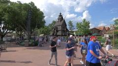 The Stave Church at Walt Disney World Resort, Orlando Stock Footage