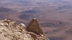 Wild desert landscape of Makhtesh Ramon Israel Stock Footage