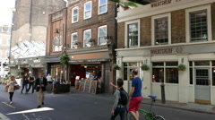 Borough street view - stock footage