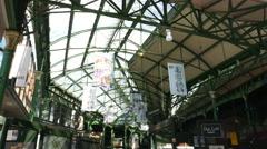 Stock Video Footage of Famous Borough Market London