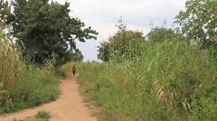 South Sudanese Rural Villagers near JUBA, SOUTH SUDAN - stock footage