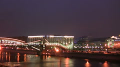 The movement on the bridge in Moscow - stock footage