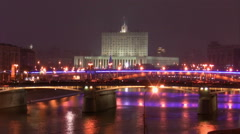 Government house in Moscow Stock Footage