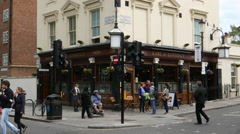Earl of Lonsdale Pub in London Stock Footage