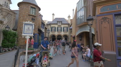 Les Halles Boulangerie Patisserie at Walt Disney World, Orlando Stock Footage