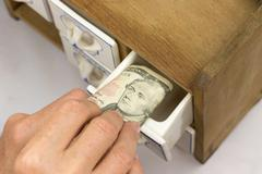 Home banking US dollar Stock Photos