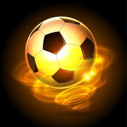 Fire soccer ball cyclone Stock Illustration