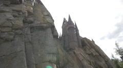 The Hogwarts Castle at the Universal Studios, Orlando Stock Footage