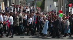 Victory Parade. Immortal Regiment. May 9 - stock footage