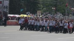 Parade Wwii. Immortal Regiment. - stock footage