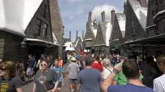 The Wizarding World Of Harry Potter at the Universal Studios, Orlando Stock Footage