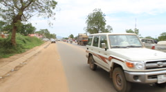 Busy Road at Dusk in JUBA, SOUTH SUDAN - stock footage
