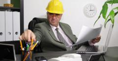 Engineer Man Inside Office Room Control Plans Work Modify Architecture Project Stock Footage